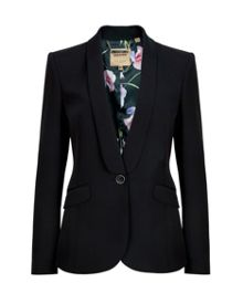Evah crepe suit jacket