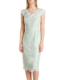 Velmia fitted lace dress