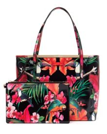 Tulie tropical toucan shopper