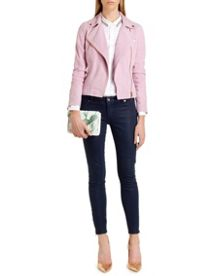 Anna wax finish skinny denim
