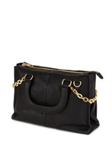 Chanory Chain trim leather tote bag