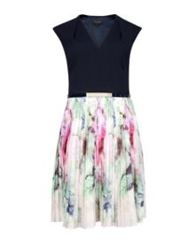 Daysee Pure peony pleated skirt dress