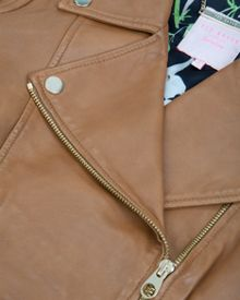 Preeya leather biker jacket