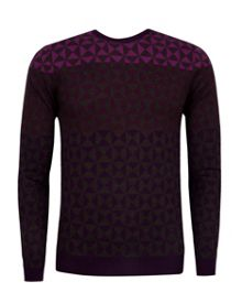 Ted Baker Zano Ombre Pattern Wool Jumper