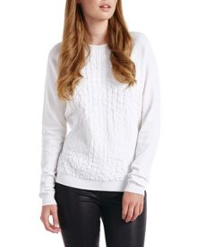 Umay Croc effect sweater