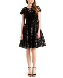 Mahima Sequin floral lace dress