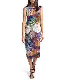 Mayzi Technicolour Bloom midi dress