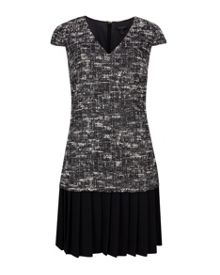 Ted Baker Lucina Boucle pleated shift dress