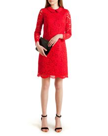 Ameera Scalloped hem lace dress