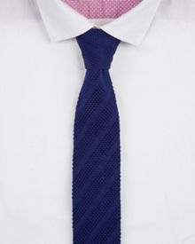 Nitted knitted tie