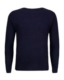 Morrelo Textured Raglan Sleeve Jumper