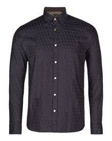 Thomaz dogtooth print shirt