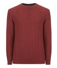 Spekta cable knit jumper