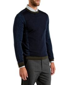 Lewcat Colour Bock Wool Jumper