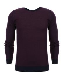 Ted Baker Lewcat Colour Bock Wool Jumper