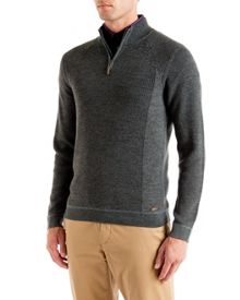 Hardmun ribbed funnel neck jumper