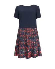 Delorez Cheerful Cherry pleated dress