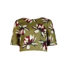 Yemma Waterlily print crop top