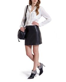 Wyrd Chain pleather mini skirt