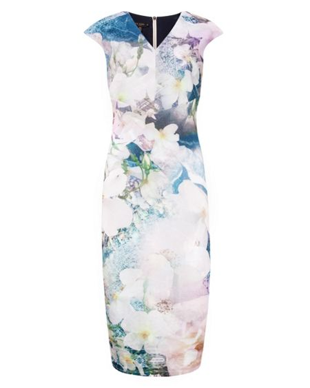 Ted Baker Amily Floral Geo midi dress