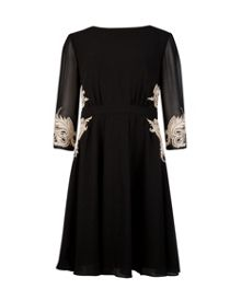 Gaenor embroidered detail dress