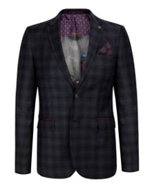 Ted Baker Yonkers checked wool suit jacket