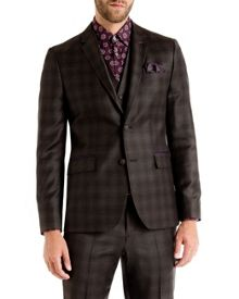 Yonkers checked wool suit jacket