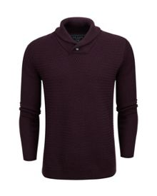 Heynow Basket stitch shawl neck jumper