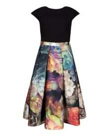 Eana Technicolour Bloom contrast dress