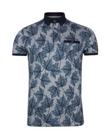 Ted Baker Fastfil Leaf print polo shirt