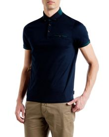 Eyebis Colour block collar polo shirt