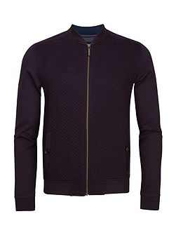 Men's Ted Baker Deeaz quilted herringbone bomber jacket