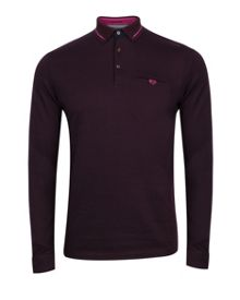 Plooto long sleeved polo shirt