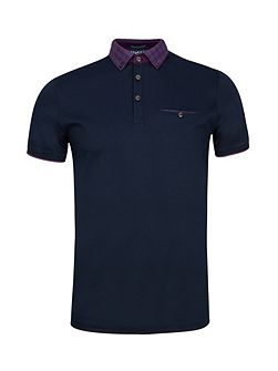 Men's Ted Baker Komma Checked collar polo shirt