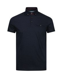 Mendosa Knitted Collar Polo Shirt