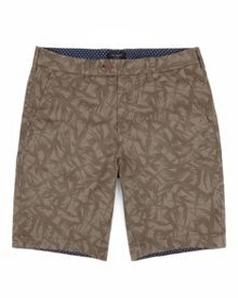 Shotime printed chino shorts