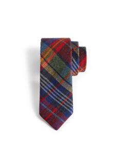 Occupaz multicoloured check wool tie