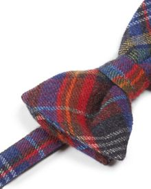 Occubow multicoloured check wool bow tie