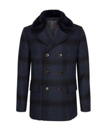 Ted Baker Arion Checked wool peacoat