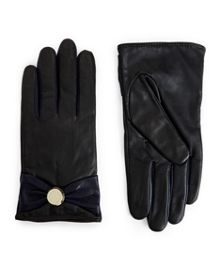 Bowson Button bow detail gloves