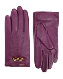 Bowra Bow trim leather gloves