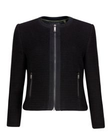 Eni textured cropped jacket