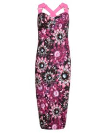 Czara crystal floral midi dress