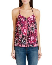 Bahia crystal brooch zip cami