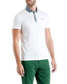Ted Baker Crayg Floral print collar polo shirt