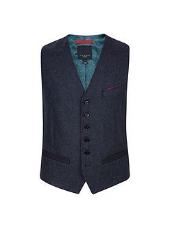Men's Ted Baker Edewai Mini design wool waistcoat