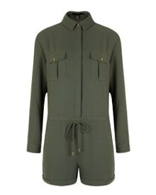 Tegeen utility style playsuit