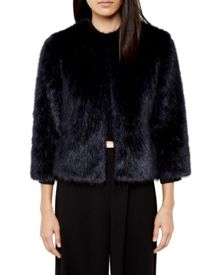 Forysia Cropped faux fur jacket