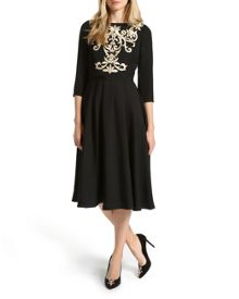 Shamari Metallic embroidered dress