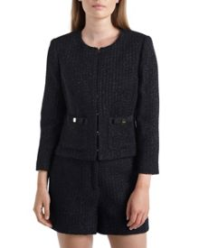 Fari Bow detail suit jacket